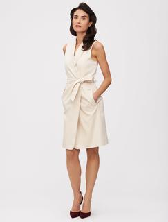 Women Jurk - Adriana Dress - Kit - 48% Lyocell, 48% Katoen, 4% Elastaan
