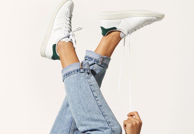 De iconische witte Adidas sneaker wordt 'groen'