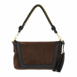 Crossbody bags - Suede Crossbody With Metallic Gold And Leather Wov in brown voor dames
