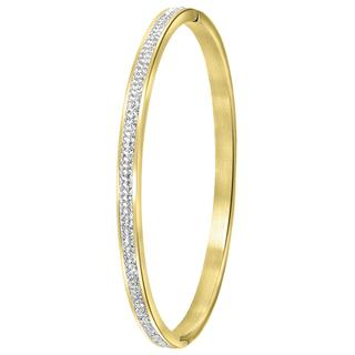 stalen goldplated bangle armband kristal
