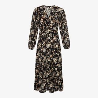 dames maxi jurk met bloemenprint