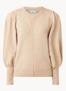 Nestor fijngebreide pullover van wol met schoudervulling
