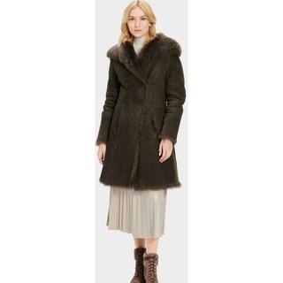 Vanesa Toscana Shearling Coat voor Dames in Olive