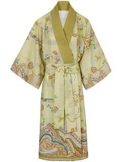 Kimono Lingam van 100% katoen groen