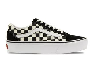 UA Old Skool Platform Checkerboard Dames