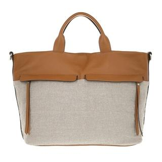 Shoppers - Two Handle Shopping Bag Leather in bruin voor dames
