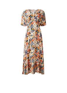 Daisy maxi jurk met rugdecolleté