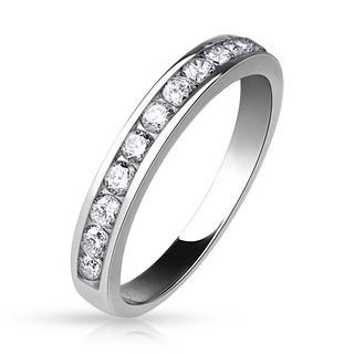 Etity - Luxueuze zilveren dames ring met twaalf steentjes