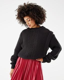 Trui Sweater Kabel Zwart