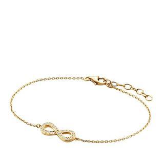 Armbanden - Bracelet Infinity Zirconia in goud voor dames