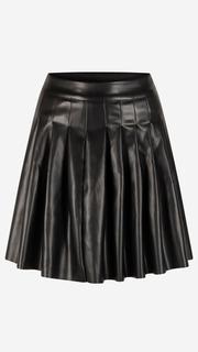 Zwarte rok met plooien