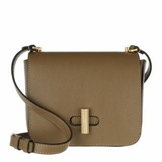 - Fedra Mini Flap Crossbody Bag in beige voor dames