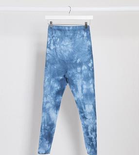 ASOS DESIGN Maternity - Legging met tie-dye-Blauw