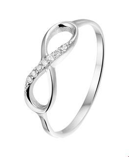 Zilver Gerhodineerde Ring infinity zirkonia 1319238 15.00 mm (47)
