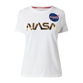 T-shirt met logo-applicatie
