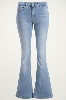 Blauwe flared jeans