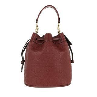 Bucket bags - Signature Leather Field Bucket Bag in bordeaux voor dames