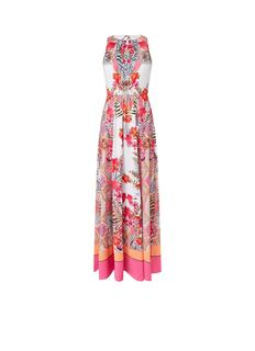 Laniah maxi jurk van satijn met bloemenprint