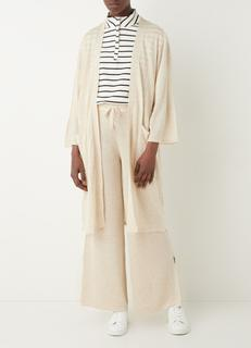 Tobias high waist loose fit pantalon in linnenblend
