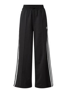High waist wide fit track pants met logo