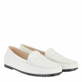 'Tod''s Loafers & ballerina schoenen - Gommino Loafers Nubuck in wit voor dames
