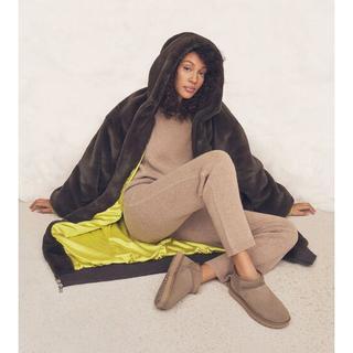 Koko Oversized Faux Fur Jas voor Dames in Urban Jungle