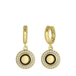 Gerecycled zilveren goldplated oorbellen zirkonia