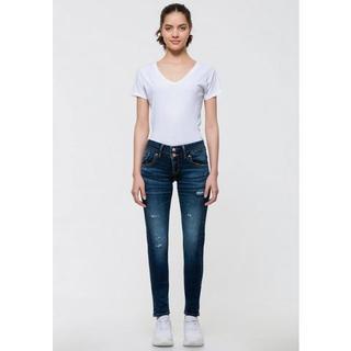 skinny fit jeans JULITA X met extra smalle pijpen en lage taillehoogte in 5-pocketsstijl