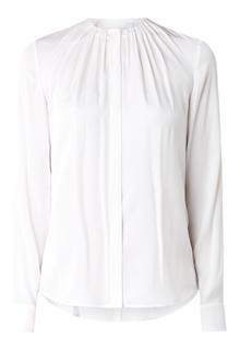 Banora blouse van zijde met plooien
