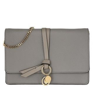 Clutches - Alphabet Clutch Leather in gray voor dames