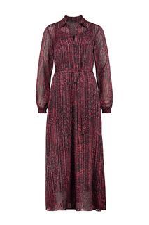 Sparkling jurk bordeaux rood