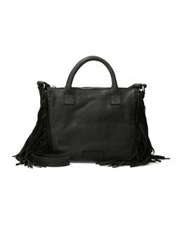 Zwarte handtas met franjes