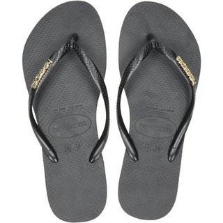 Slim Logo Metallic slippers