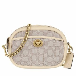 Crossbody bags - Quilted Signature Jacquard Camera Bag in beige voor dames