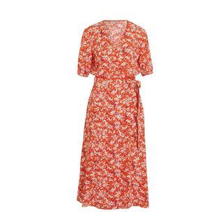 jurk met all over print oranje