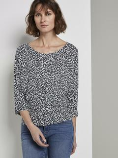 NU 20% KORTING: T-shirt Gemustertes T-Shirt mit Zierfalten