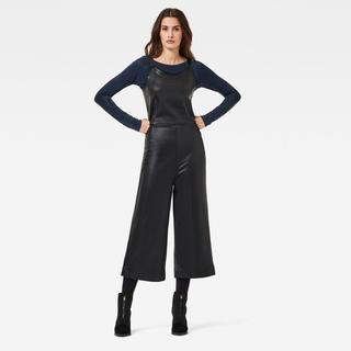 Glossy Sweat Jumpsuit - Zwart - Dames