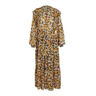 maxi jurk met all over print oranje