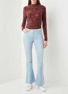 Raval mid waist flared fit jeans met lichte wassing