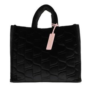 Shoppers - Never Without Bag Velvet Handbag in zwart voor dames