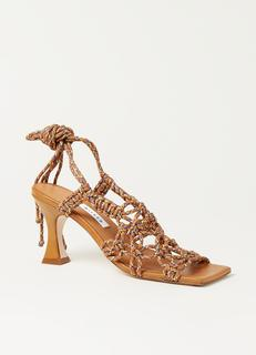 Stephanie sandalette van leer met knoop details