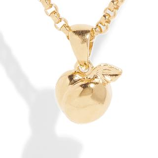 THE PEACH PENDANT - 18k gold plated