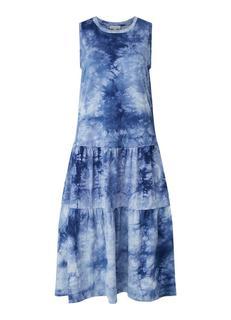 Midi jurk met tie-dye dessin