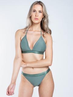 Dames triangle bikini effen