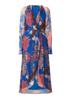 Maxi jurk met bloemenprint en lurex