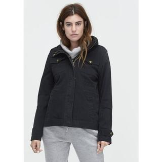 Convertible Field Jacket voor Dames in Black, maat XS | Katoenmix