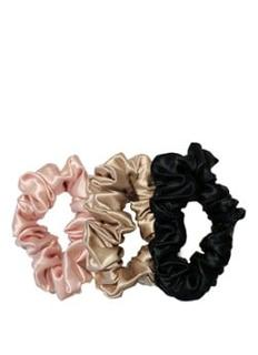 Silk Scrunchies large haarelastiek van zijde set van 3