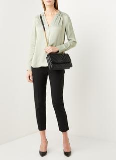Celine blouse van satijn met plooiddetail