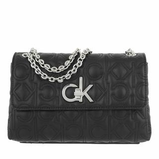 Crossbody bags - Re-Lock Ew Conv Flap Xbody Quilt in zwart voor dames