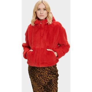Mandy Faux Fur Jas voor Dames in Blaze